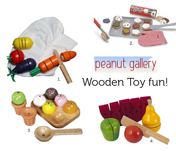 wooden food toy fun at peanut gallery the australian. Black Bedroom Furniture Sets. Home Design Ideas