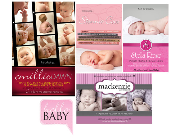 Birth Announcement Cards at helloBABY Designs – Birth Announcement Cards Australia
