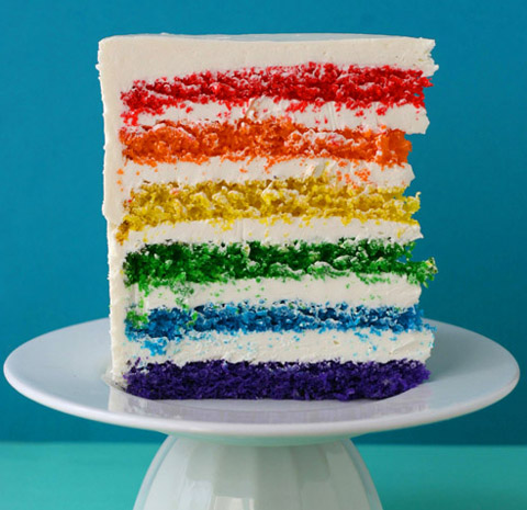 Rainbow Cake – so pretty! I made this one for my daughter's ...