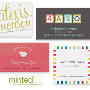 Business Cards for Mums at Minted