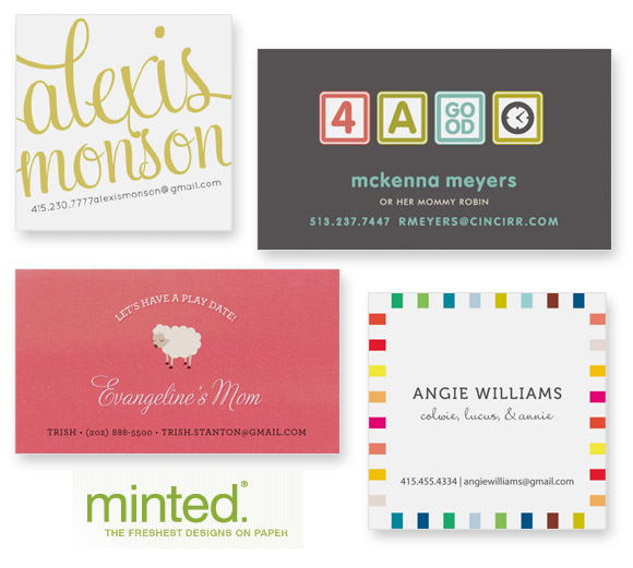 Business cards for mums at minted the australian baby blog for colourmoves