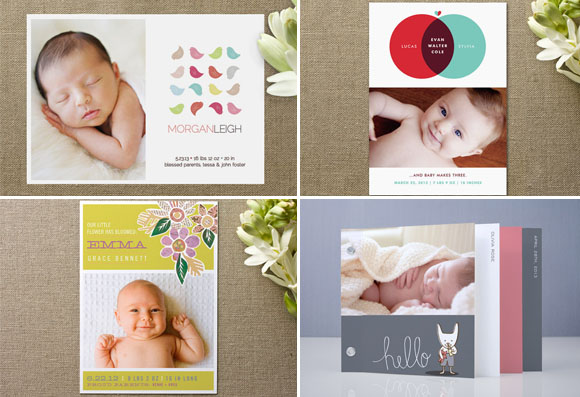 Gorgeous Birth Announcement Cards at Minted – Birth Announcement Cards Australia