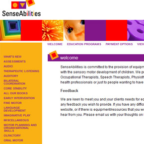 SenseAbilities - Sensory Motor Development Toys & Equipment
