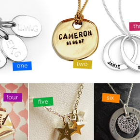 Personalised Jewellery for Mothers Day!