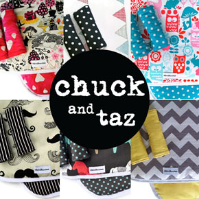 Beautiful reversible pram liners by Chuck And Taz