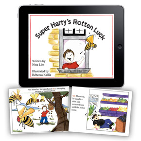 Super Harry's Rotten Luck - iPad book for kids