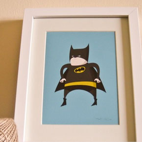 Cute Batman artwork for the kids room!