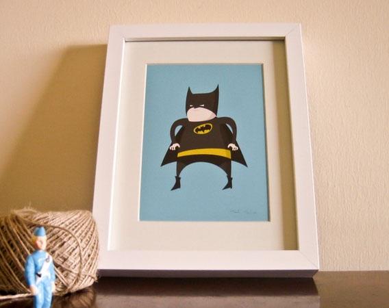 Cute Batman Artwork For The Kids Room The Australian Baby Blog - Artwork for kids rooms