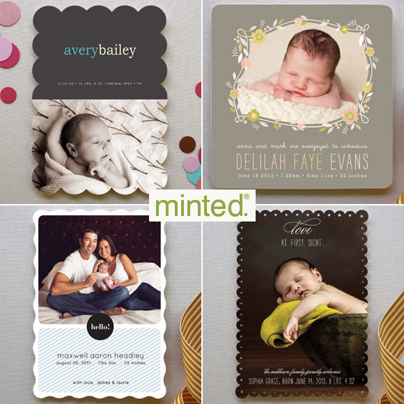 Gorgeous Birth Announcements by Minted – Birth Announcement Cards Australia