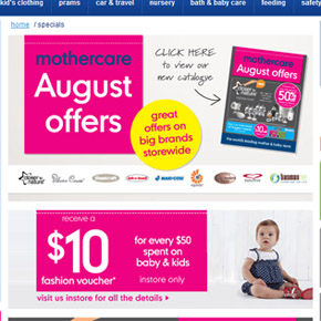 Mothercare August Offers Catalogue