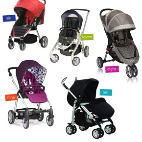 10 Great Prams & Strollers Under $500