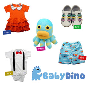 Cute kids clothes & accessories at Baby Dino