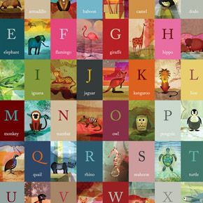 Beautiful Alphabet Poster for Kids