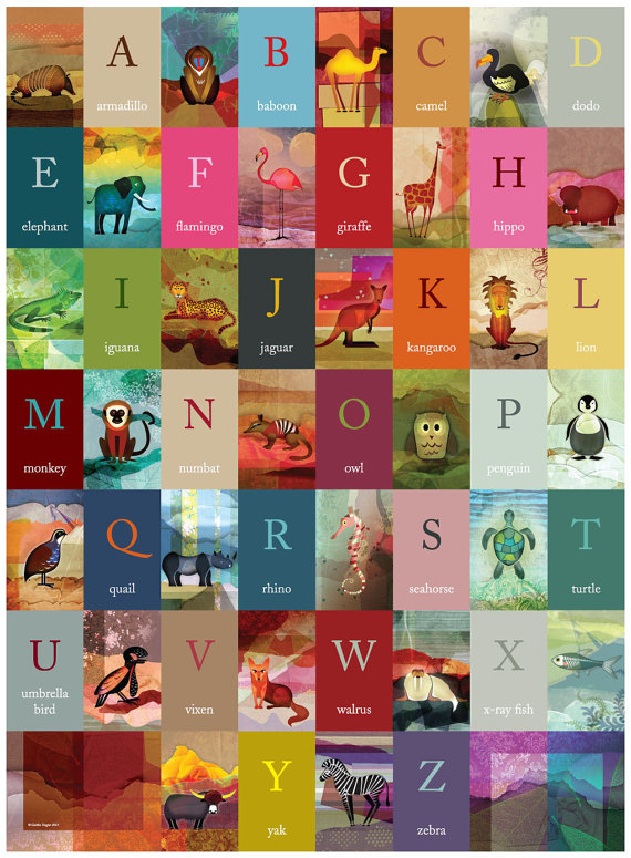 Beautiful Alphabet Poster For Kids The Australian Baby Blog