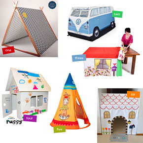 Six Indoor Play Tents & Cubbies for Kids
