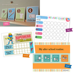 Free Printable Kids Rewards & Routine Charts!