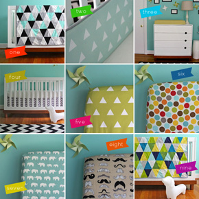 Fun Nursery Bedding &amp; Quilts by Ivie Baby